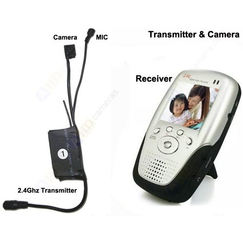 1W Wireless Micro Camera & Transmitter + High Sensitive MIC + Portable Receiver
