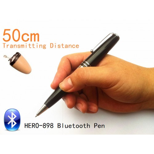 2014-new-bluetooth-pen-hero-898-with-spy-earpiece-50-60cm-long-transmitting-distance-can-work