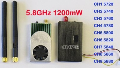 5.8G 1200MW FPV Transmitter and Receiver