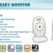 VB602 2.4G wireless camera baby monitor