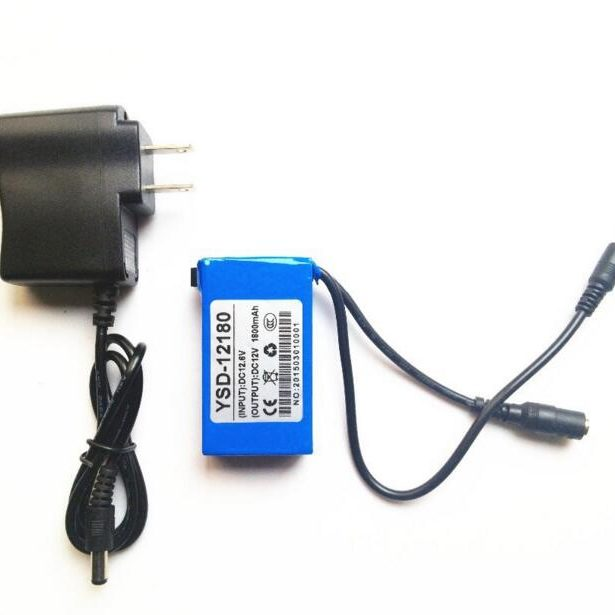 DC-168 1800mAh 12V Mini li-ion battery for Lan router, LED strip , Camera system