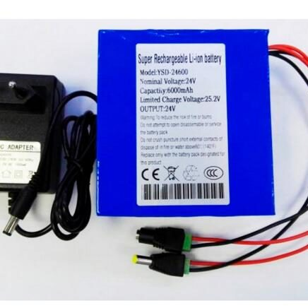 Factory OEM rechargeable DC 24v 6Ah li-ion battery pack