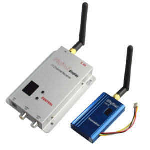 2.4GHz 12 Channels 1000mW Wireless Receiver & Transmitter