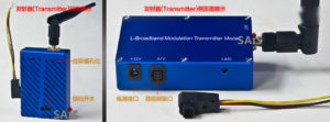1.3G 5W Wireless Audio Video AV Transmitter Receiver System Transceiver Telemetry Set