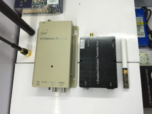1.2G 5W 5000MW 4CH FPV CCTV Audio Video AV Transmitter