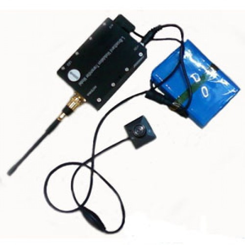 Wireless Transmitter System Plus Earpiece For Long Distance Video Audio Transmit