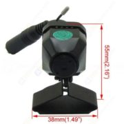 Mini Tunable 2.4G Wireless CMOS Pinhole Camera 3.7mm Lens With MIC