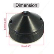 Wide Angle 2.8mm Sharp-Pointed Pinhole Lens For Board Camera
