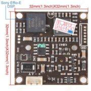 650TVL High Resolution Mini Effio-E DSP SONY CCD 25mm Lens Camera MIC