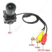 2.8-12mm 650TVL HD MIC Mini Effio-E DSP SONY CCD Color Video Camera