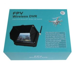 1.2Ghz HD Wireless 5 inch FPV Monitor / Receiver Support 32GB TF Card