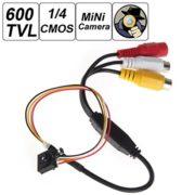 "500 Mega Pixel Smallest Button Pinhole Spy Video Camera Mini Hidden Camera with 600TVL 1 / 4"" HD Sensor Support Video and Audio Output TV Standard - NTSC"