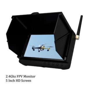5 inch FPV Monitor 32 Channels UAV DVR Receiver 1.2Ghz / 2.4Ghz / 5.8Ghz