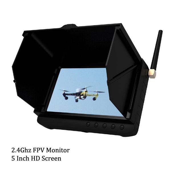 5 inch FPV Monitor 32 Channels UAV DVR Receiver 1.2Ghz / 2.4Ghz / 5.8Ghz