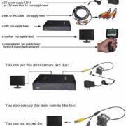 3.6mm Lens Wide Angle Mini Case Camera 540TVL CMOS With Filter CCTV Pinhole Camera Security Hidden