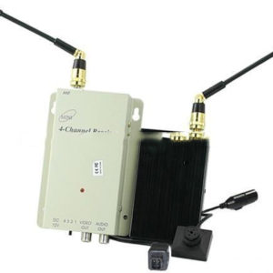 700MW Super Range 1.2G Wireless Button Spy Camera for Examination