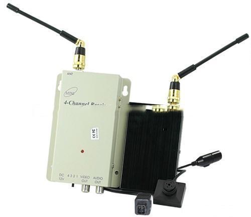 700MW Super Range 1.2G Wireless Button Spy Camera for Examination