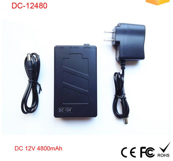 2016 hot selling DC-12480 4800mah Portable Recharge 12V lithium ion battery