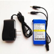 12V 3Ah Super rechargeable li-ion battery with 2.5*0.7mm connector for Lan router