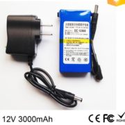 DC 12V 3000mah CCTV power supply with lithium Battery