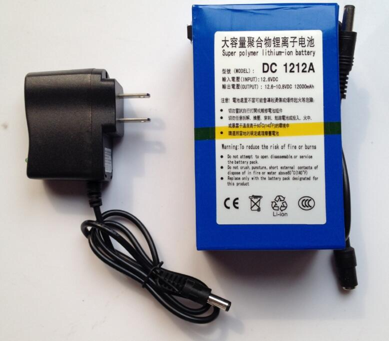 Super 12Ah rechargeable lithium ion battery 12v for led strip light/CCTV Camera