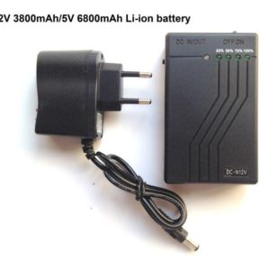 YSN-N12V 12V 3800mAh / 5V 6800mAh black li-ion battery