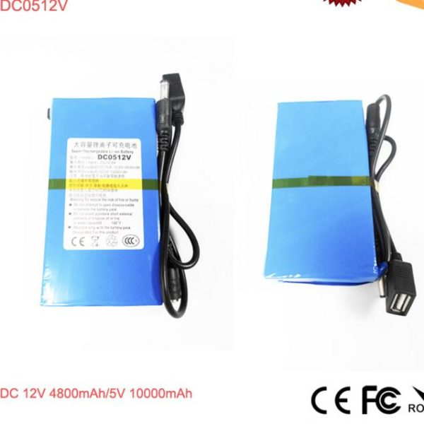 DC 12V 4800mAh/5V 10ah Li-ion Battery Pack