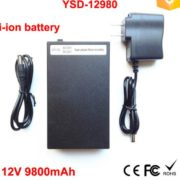 Super polymer Portable li-ion battery 12v 9.8ah for LED strips high quality
