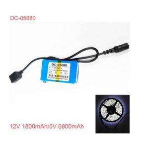 rechargeable 5v li ion polymer battery with 12V output,USB 5V output dc-05680