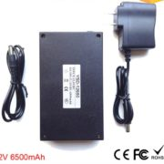 battery in black case DC-12650 6500mAh
