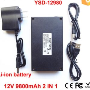 Battery capacity: 12V 9800mAh/5V 20000mah