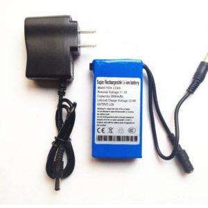 12V Portable Rechargeable 3000mah li-ion battery
