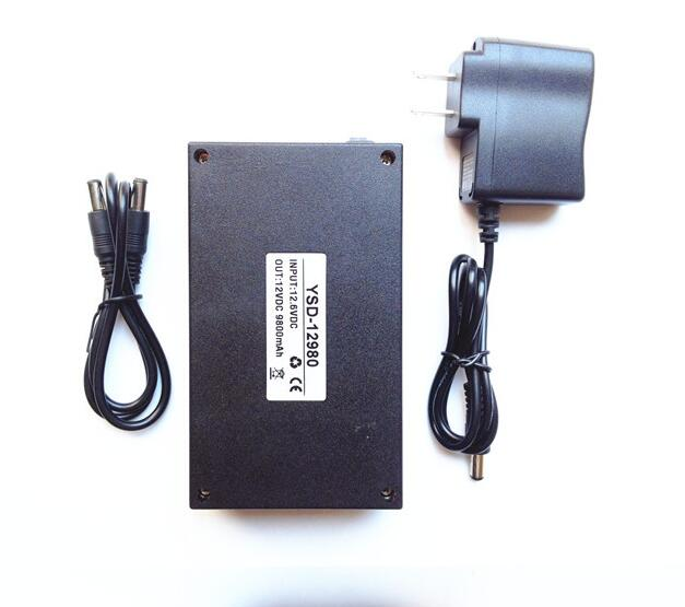 YSD-12980 black 9800mAh rechargeable 12V super portable Li-ion battery