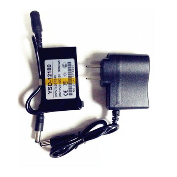 YSD-12180 black 12V 1800mAh Rechargeable li-ion battery
