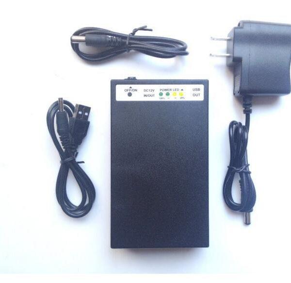 12V 6500mah/5V 12000mah Batteria ai polimeri Li-ion ricaricabile with power level indicator