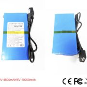 DC Lithium ion power bank battery li-poly 12v 4800mah/5V 10Ah