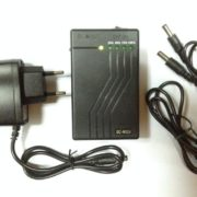 Super Rechargeable Li-ion Battery 12V 3800mAh/5V 6800mAh for LED strips with power indicator in black case