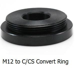 M12 to C/CS Mount Convert Ring, M12 to C/CS mount adapter, C/CS to M12 lens holder