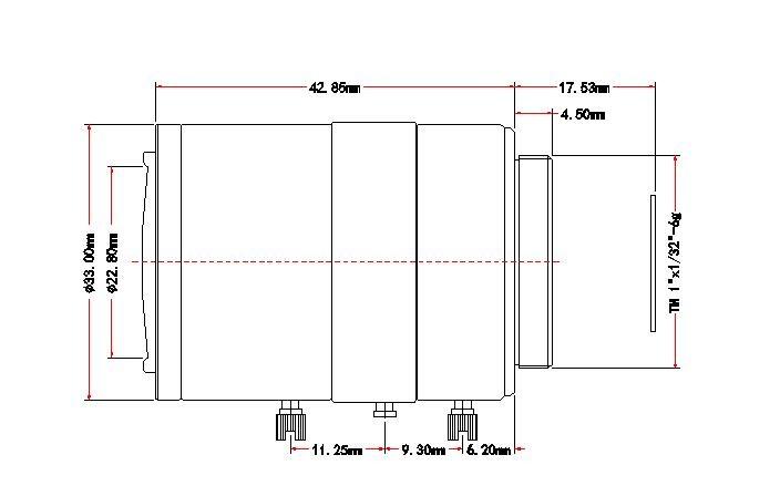 "Machine vision telecentric lens big target surface 1/2 ""4-12 mm C industrial camera zoom lens focal length"