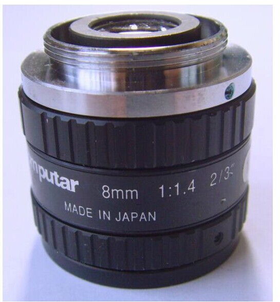 "M0814-MP Computar 2/3"" C Mount 8mm f/1.4 Lens for Megapixel Camera"