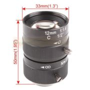 """1/2"""" CCTV 12mm C Lens for CCD Security Box Camera"""
