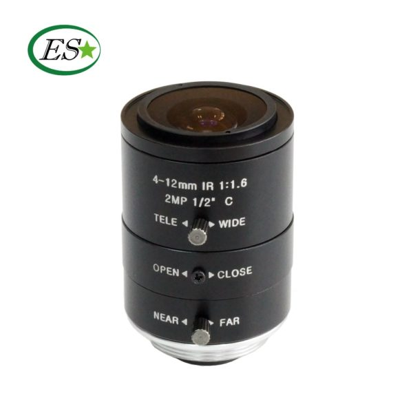 "Machine vision telecentric lens big target surface 1/2 ""4-12 mm C industrial camera zoom lens focal length"