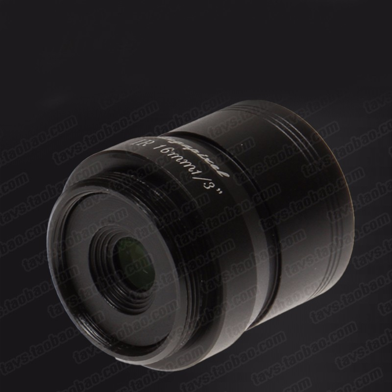 F:1.0 2 one million high-definition lens 16mm/ night vision special fixed aperture lens F1.0-16mm