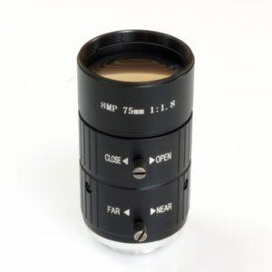 Fixed focus 75mm/ eight million pixels / set CCTV camera lens C mount