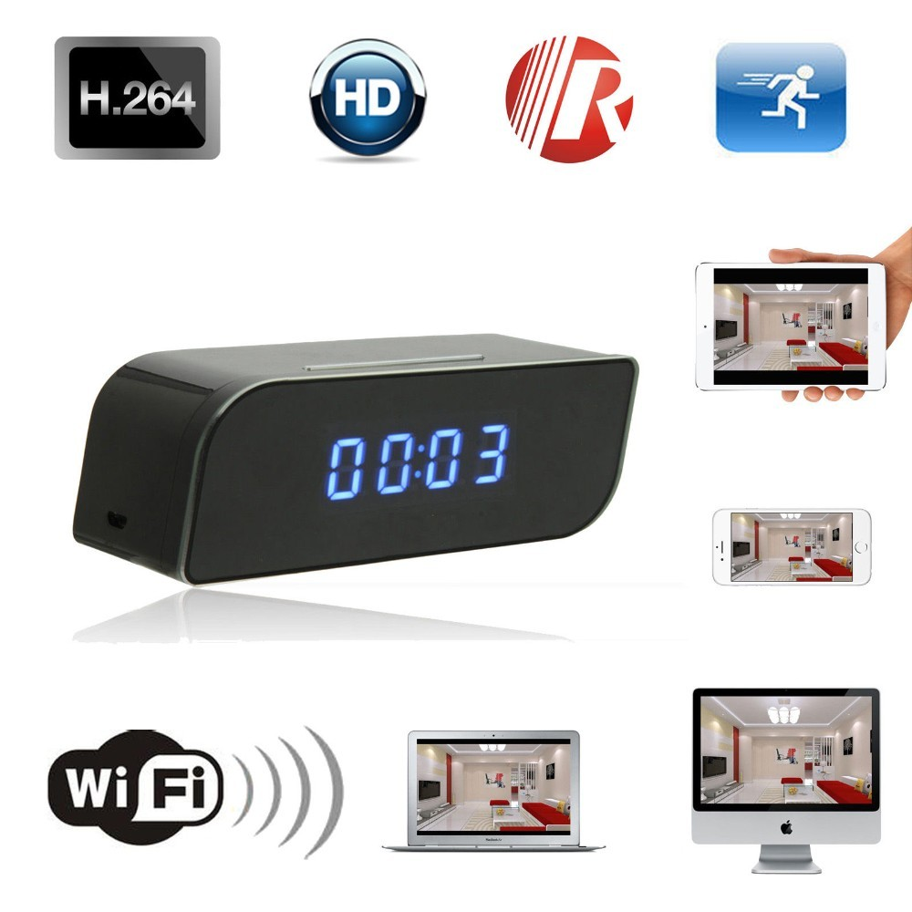 Wifi IP 720P HD Clock Camera