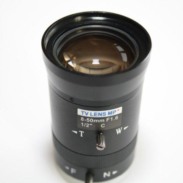 8-50mm Manual Iris C Mount CCTV Lens 2 Mega Pixel