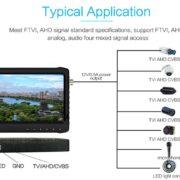 7 inch LCD AHD DVR monitor 1080P CVI TVI AHD
