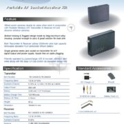 1.2G 700mW Wireless Audio Video AV Transmitter Receiver System Transceiver Telemetry Monitoring Set for FPV
