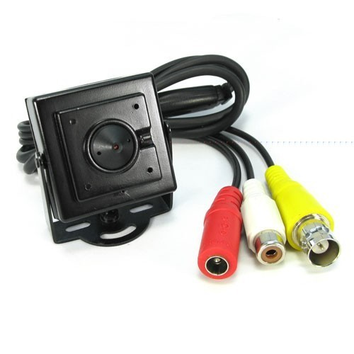 夏普ccd_Mini Pin-Hole Sharp CCD CCTV Camera W/Mic 420TVL