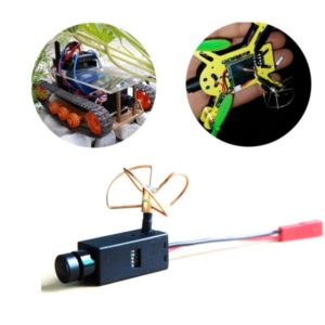 32CHs 5.8Ghz Wireless FPV Camera with Clover Antenna , 120 Degree Wide Angle